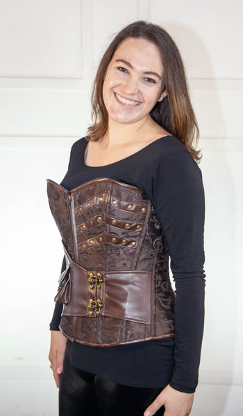 Brocade Leather Full Corset