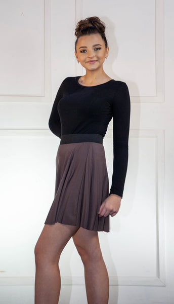 Brown Flair Short Skirt