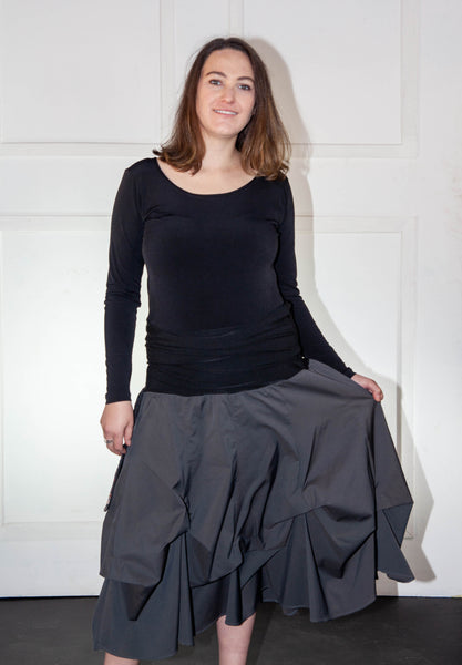 Dark Grey Bubble Skirt
