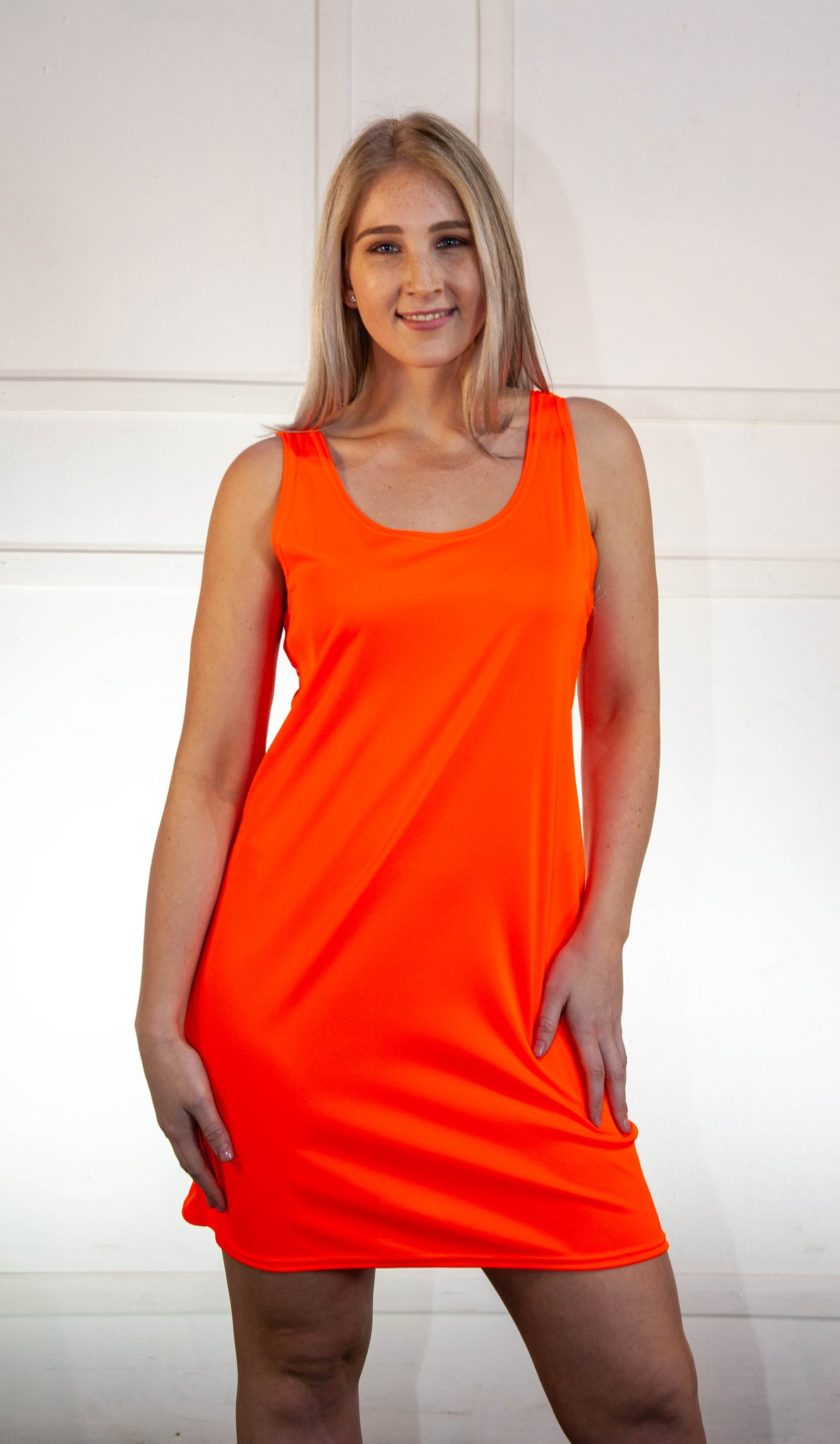 Top Plain Vest UV Orange