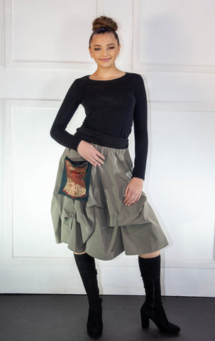 Light Grey Bubble Skirt
