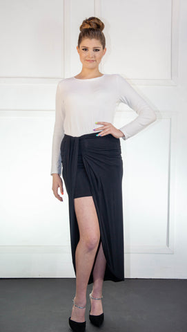 Mini Black Overlay Skirt