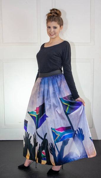 South African Printed Skirt