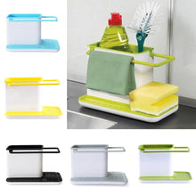 Load image into Gallery viewer, Kitchen Cleaning Tool Storage Bucket Draining Sink Sponge Brush Dishcloth Organizer Racks Stand
