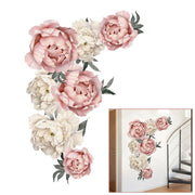 Peony Wallpaper Flower Wall Sticker Nursery Room Home Party Festival Decoration Products Supplies