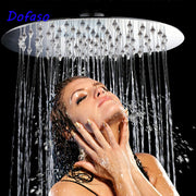 shower head high pressure round and square Head Shower Sprayer Stainless Ultra-thin rainfall shower 4/6/8 inch