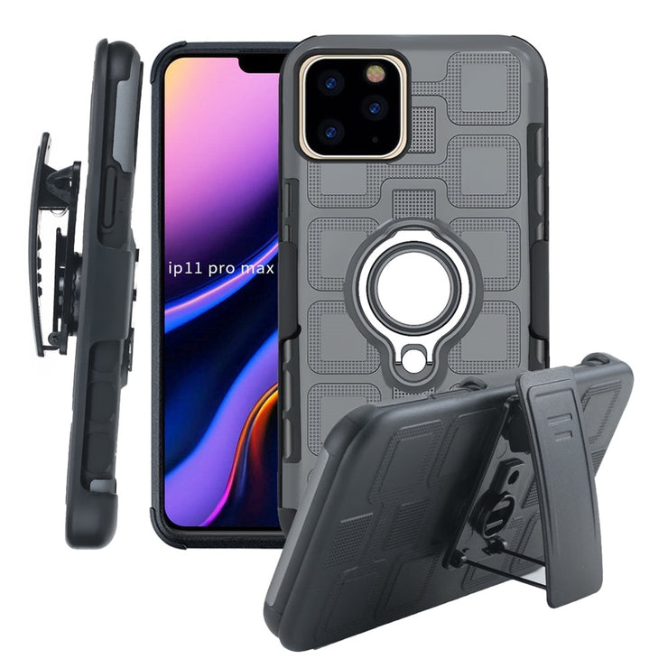 Armor Car Phone Case For iPhone 11 11 Pro Max Full Protection Cover Belt Clip Case For iPhone Xs Max XR X 8 7 6 Plus Ring Holder