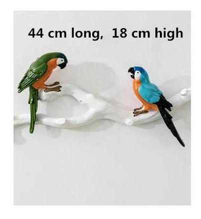 three-dimensional parrot wall stickers, creative bird wall hanging crafts, home decoration products