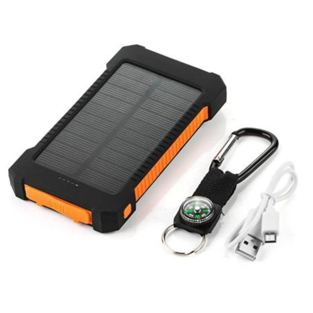 Solar Power Bank Dual USB Portable Solar Battery Charger Universal Mobile Phone Charger