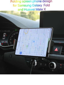 10W car wireless charger,auto sensing car bracket,designed for folding screen phone,for Samsung Galaxy Fold/S10/S9/S8/i11/X/XR/8