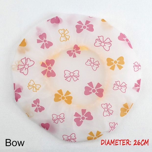 Shower Cap Thicken Elastic Bath Hat Bathing Cap for Women Hair Salon Dot Waterproof Bathroom Products Bathroom Accessories