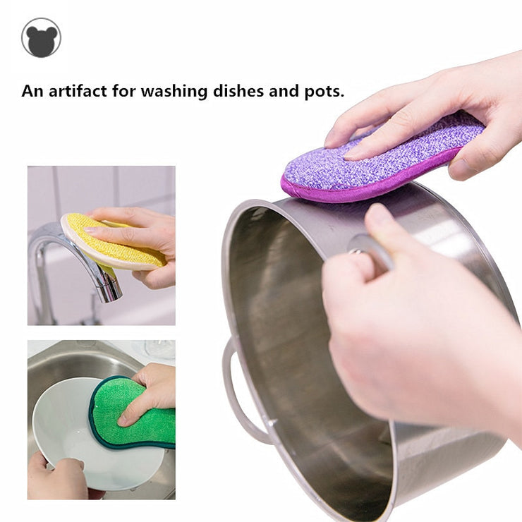 5pcs Anti-microbial cleaning sponge magic sponge melamine sponges kitchen sponge for washing dishes kitchen scourer pan brush