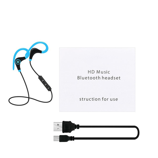 Sport Bluetooth Wireless Earphone Stereo Ear-hook Sports Noise Reduction Earphones With Microphone Headset For IPhone Huawei
