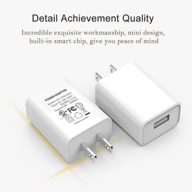 5V 2A USB Wall 3C Certified Charger One Port Home Travel Plug Charging Block Cube Power Adapter Replacement For Phone