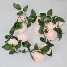 Load image into Gallery viewer, Peony Silk Artificial Flowers High Quality Vine Ivy Rattan Plastic Fake Flower Garland for Wedding Home Decoration Bright Colors
