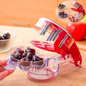 Cherry Pitter Stone Corer Remover Machine Cherry Corer With Container Kitchen Gadgets Tool