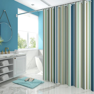 Striped Pattern Bath Curtain Waterproof Shower Curtains Bathroom Bath Screen Printed Curtain for Bathroom Accessories