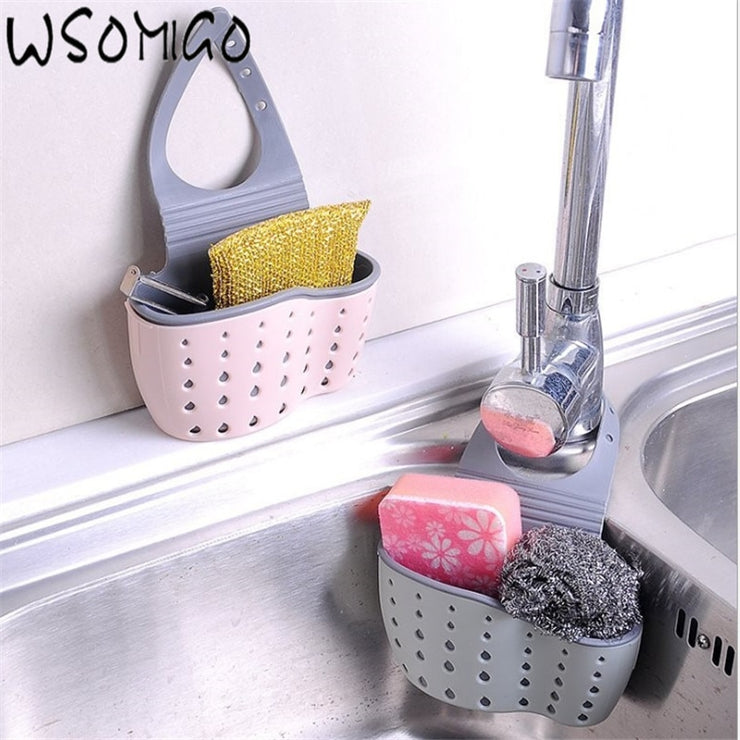 Portable Basket Home Kitchen Hanging Drain Basket Bag Bath Storage Tool Sink Holder Kitchen Accessories Cocina-S