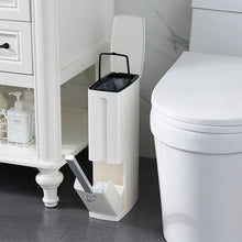 Load image into Gallery viewer, Bathroom trash bucket Set Waste Bin Plastic with Toilet Brush Bathroom Dustbin Trash Cans Garbage Bucket Garbage Bag Dispenser