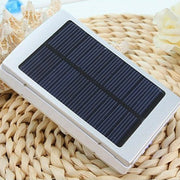 Portable 30000mAh High Capacity Solar Battery Charger Dual Output USB External Battery Long Lasting for Mobile Phone Charger