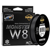 SeaKnight MONSTER W8 Fishing Line 150M 300M 500M 8 Strands Braided Fishing Line Multifilament PE Line 15 20 30 40 50 80 100LB