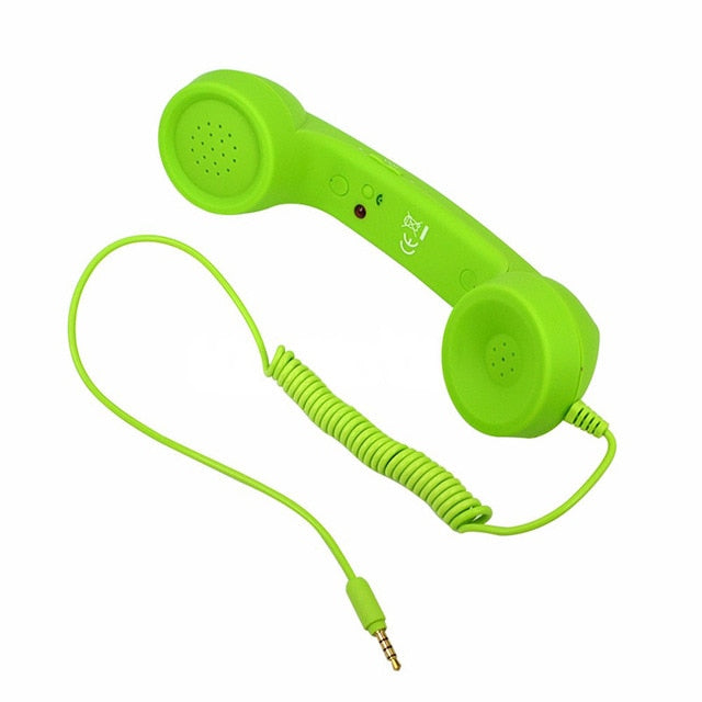 Mobile Phone Telephone Receivers Handset Earphone Retro Telephones Receiver For 3.5mm Interface Cellphone For iPhone 4 4s 5 6 6s