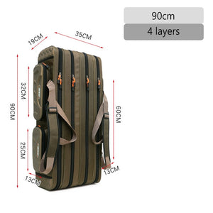 2/3/4 layer 80/90/100/120CM Fishing Bag  Multifunctional Fishing Rod Reel Lure Pole Storage Bag Case Fishing Gear Tackle  XA153G