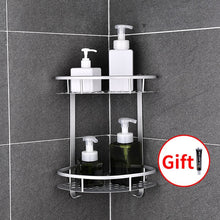 Load image into Gallery viewer, Bathroom Shelf No Punching Shower Caddy Sheves Kitchen Storage Basket Adhesive Suction Corner Shelves Shower