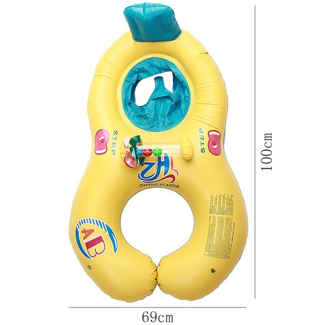 Mother Baby Inflatable Circle Safety Baby Float Swimming Circle Baby Accessories Swimming Pool Inflatable Buoy Children's Float