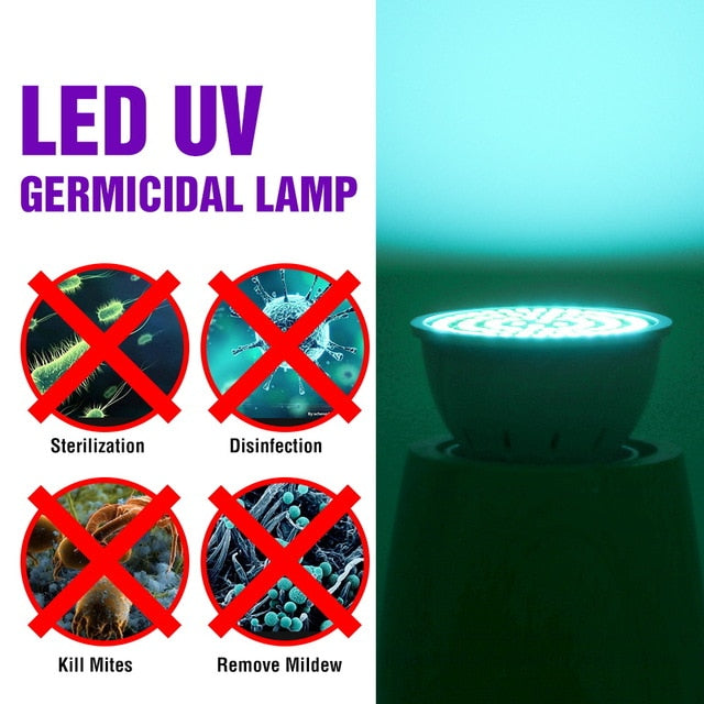 E27 UV Bactericidal lamp led 220V E14 UVC Germicidal Light Led GU10 Disinfection Kill Germs Mite Light Bulb LED Ozone Lampada