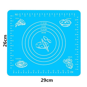 1Pc Non-stick Silicone Baking Mat Vegetable Cutter Kneading Dough Pad Kitchen Cooking Tools Kitchen Gadget,Q
