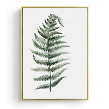 Load image into Gallery viewer, Watercolor Leaves Wall Art Canvas Painting Green Style Plant Nordic Posters and Prints Decorative Picture Modern Home Decoration