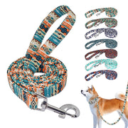 Dog Leash 7 Colors Prnted Pet Leash Dogs Walking Training Leads Durable Belt Rope for Small Medium Dogs