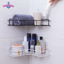 Load image into Gallery viewer, Bathroom Shelf Metal Shelf Storage Rack Stainless Steel Punch-Free Firm Shower Kitchen Fitted Wall Storage Organizer Rack
