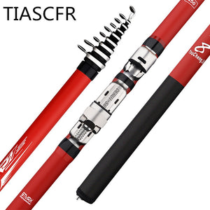 Portable rotary fishing 3.6M4.5M5.4M6.3M fishing rod tough carbon fiber M power telescopic travel sea boat rock fishing rod