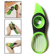 Avocado Slicer Peeler Cutter Tools Multifunction Fruit Splitter Plastic Knife Peeler Scoop Separator Tool Kitchen Gadget(3 in 1)