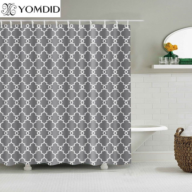 Waterproof Shower Curtains for Bathroom Home Decor Polyester Fabric Shower Curtains Geometric Pattern Multi-size Shower Curtains