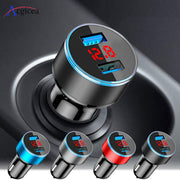 USB(Mini)Car Charger For iPhone XR 11 Fast Car Phone Chargers Fast Charging With LED Display 3.1A Dual USB Phone Charger in car