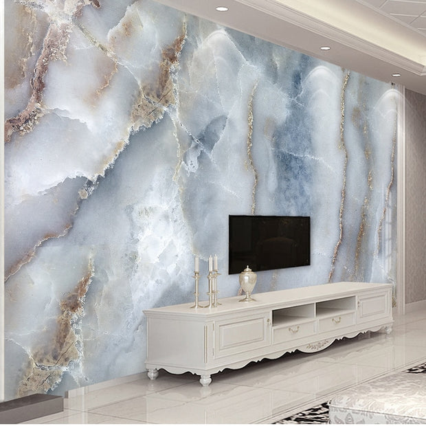 Marble Stone Wall Cloth Living Room Sofa TV Background Wall Decorative Wall Paper Waterproof Wall Mural