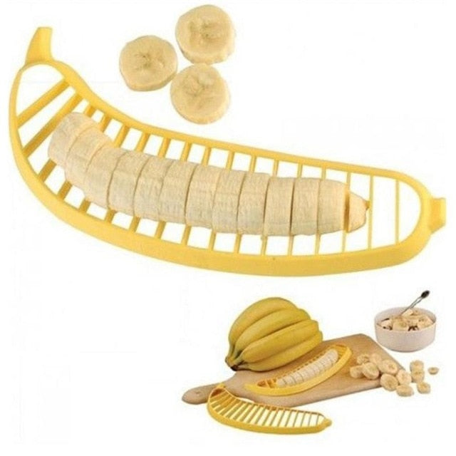 Banana Slicer Cutter Fruit Vegetable Tool Salad Maker Cooking Tools practica Slicer Cutterl Kitchen Gadgets
