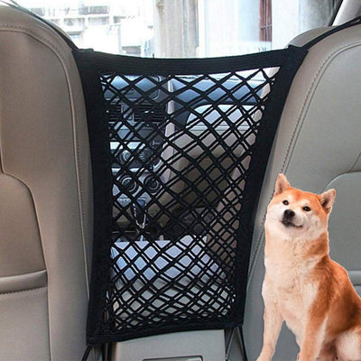 Car Pet Barrier Mesh Dog Car Safety Travel Isolation Net Vehicle Pet Car Back Seat Safety Barrier Mesh Pet Products