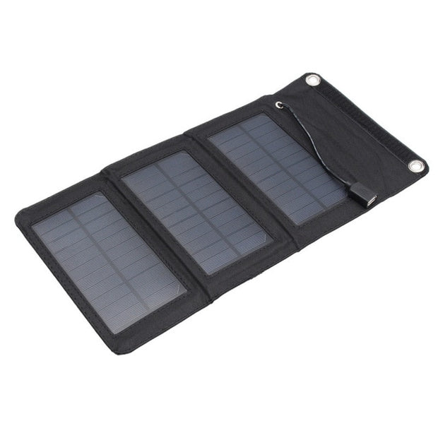 30W 5V Folding Solar Panel Foldable Portable Power Charger For Cell Phone Camping Outdoor