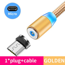Load image into Gallery viewer, Magnetic Cable lighting 2.4A Fast Charge Micro USB Cable Type C Magnet Charger 1M Braided Phone Cable for iPhone Xs Samsung Wire