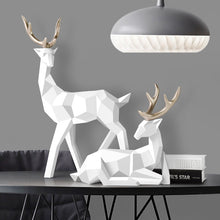 Load image into Gallery viewer, Deers Sculpture Resin Deer Statue Nordic Decoration Home Decor Statues Deer Figurines Modern Decoration Deers Table Ornament