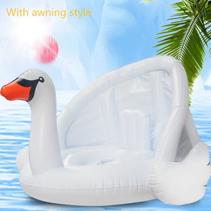 Baby Floating Swimming Seat Ring Flamingo Infant Thickened Inflatable Swim Lifebuoy Float Swimming Pool Beach Accessories