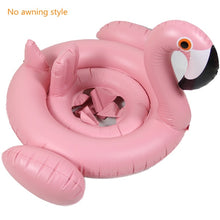 Load image into Gallery viewer, Baby Floating Swimming Seat Ring Flamingo Infant Thickened Inflatable Swim Lifebuoy Float Swimming Pool Beach Accessories