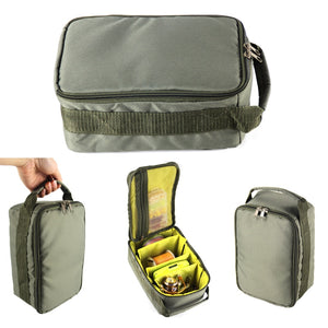 Fishing Reel Bag Oxford Fishing Tackle Bag Portable Fishing Reel & Gear Storage Case for Spinning Baitcasting Fly Reels A507