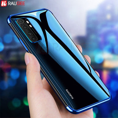 Phone Case for Xiaomi Mi Note 10 Lite Case Luxury Bumper Silicon Back Clear Cover Case For Xiaomi Note 10 Lite Global Case 6.47'