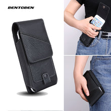 Load image into Gallery viewer, Universal Mobile Phone Waist Bag for Iphone11 XR X XS 6 7 8 Plus PU Leather Belt Clip Phone Cover for Xiaomi Huawei
