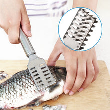 Load image into Gallery viewer, Fish Skin Brush Scraping Fishing Scale Brush Kitchen Accessories Fish Knife Cleaning Peeler Kitchen Gadgets Useful Scraper.Q